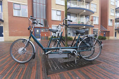 Electric tandem bicycle Royalty Free Stock Photos
