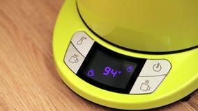 Electric tea kettle display stock video
