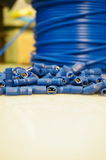 Electric terminals cable B Royalty Free Stock Image