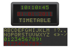 Electric timetable. Stock Image