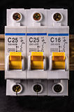 Electric toggle-switch Royalty Free Stock Image