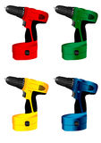Electric tool  drill. The  image of  manual electric tool  drill Royalty Free Stock Photo