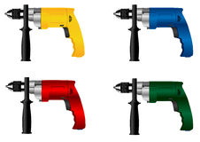 Electric tool drill. The image of manual electric tool drill Stock Illustration
