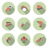 Electric tool flat vector icons set. This is file of EPS10 format Stock Photography