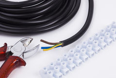 Electric tools and cable stock photos