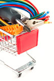 Electric tools in a cart Stock Photography