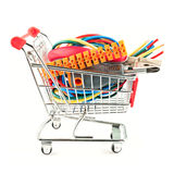 Electric tools in a cart Royalty Free Stock Images