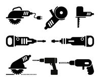 Electric Tools vector icon set Stock Image