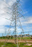 Electric Tower. High Voltage Electric Tower Connected Power Plant Stock Images