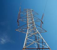 Electric Tower. An electic tower located close to Hoover Dam royalty free stock photo