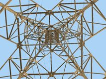 Electric tower. On a background of the sky Royalty Free Stock Images