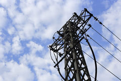 Electric tower in the blue sky Stock Image