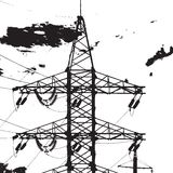 Electric Tower Closeup Royalty Free Stock Images