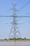 Electric tower for install HighVoltage lines Stock Image