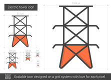 Electric tower line icon. Stock Images