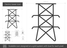 Electric tower line icon. Royalty Free Stock Images