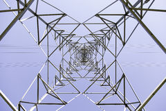 Electric tower metal Royalty Free Stock Photography