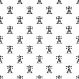 Electric tower pattern seamless vector stock illustration