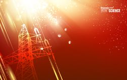 Electric tower. Royalty Free Stock Photos