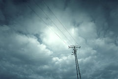 Electric tower in the sky Royalty Free Stock Photography