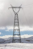 Electric Tower in the Snow Stock Photos
