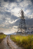 Electric tower in the wild Royalty Free Stock Images