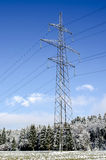 Electric tower in winter Stock Image