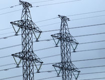 Electric towers Royalty Free Stock Photos