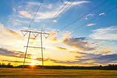 Electric towers Royalty Free Stock Images