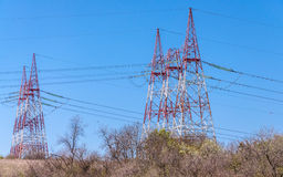 Electric towers Royalty Free Stock Photography