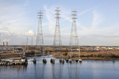 Electric Towers Royalty Free Stock Photo