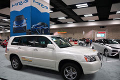 100% electric Toyota FCHV-adv on display at the Motor Show exhib Stock Photo