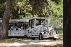 Electric Train in Brujini Royalty Free Stock Image