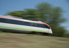 Electric train on the go Royalty Free Stock Image