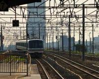 Electric train. In osaka japan Royalty Free Stock Image