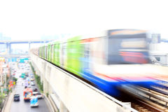 Electric Train Running. Electric train, BTS of Thailand is running Royalty Free Stock Image