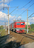 Electric train Russian Railways in Moscow Royalty Free Stock Photography
