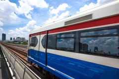 Electric train station. In the capital of thailand Stock Image