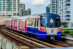 Electric train. Trains were running Bangkok, Thailand Stock Images