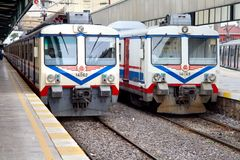 Electric trains Royalty Free Stock Photos