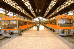 Electric trains. Royalty Free Stock Photos