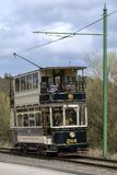 Electric tram at Beamish Open Air Museum Royalty Free Stock Photography