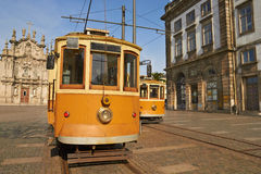 Electric tram in Portugal, Porto Royalty Free Stock Photos