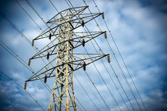 Electric Tranmission Tower Royalty Free Stock Photography