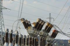 Electric transformation substation Royalty Free Stock Photos