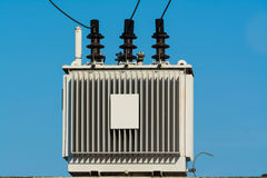 Electric transformer against Stock Images