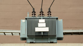 Electric transformer high voltage. The electric transformer high voltage Stock Photos