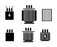 Electric transformer icon - vector illustration. On white background Stock Image