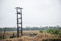 Electric Transformer in Kottayam Stock Image