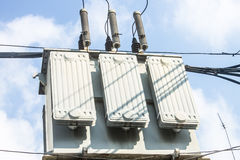 Electric transformer, power supply Royalty Free Stock Photos